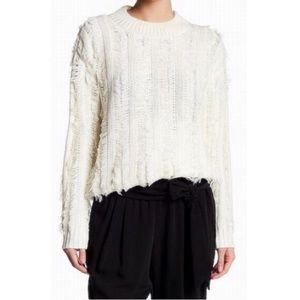 Anthropologie Ro and De Fringe Sweater